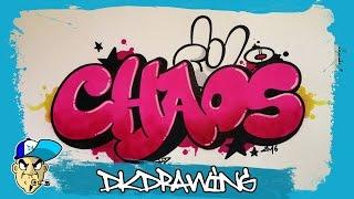 Graffiti Tutorial - How to draw chaos graffiti bubble style letters