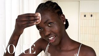 Model Adut Akech's 5-Minute Bedtime Routine for Glowing Skin | Beauty Secrets | Vogue