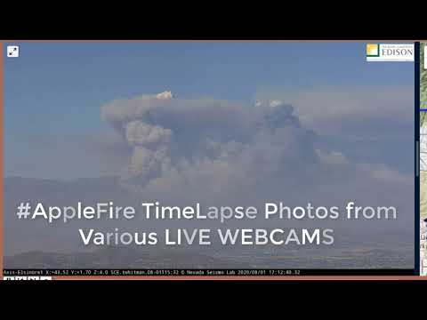 Cherry Valley #AppleFire Timelapse Video Aug. 1st