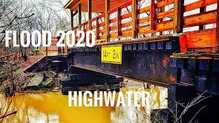 Flood Of 2020, (Williams Dam-Covered Bridge) Indiana