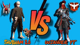 Epic 1 v 1 clash squad battle|| @WINNERGAMING || SHUBHAM2.0 VS WINNER GAMING|| #overdosegaming