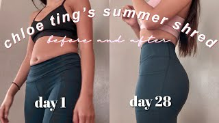I TRIED CHLOE TING'S NEW 28 DAY SUMMER SHRED PROGRAM | BEFORE AND AFTER *INSANE RESULTS*