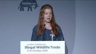 Thumbnail for Bella Lack speaking at The Illegal Wildlife Trade 2018