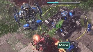 Maru Rushes a Battlecruiser vs. Impact - Starcraft 2 GSL
