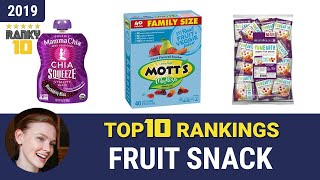 Best Fruit Snack Top 10 Rankings, Review 2019 & Buying Guide