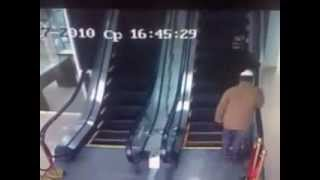 Some People Using Escalator First Time :)