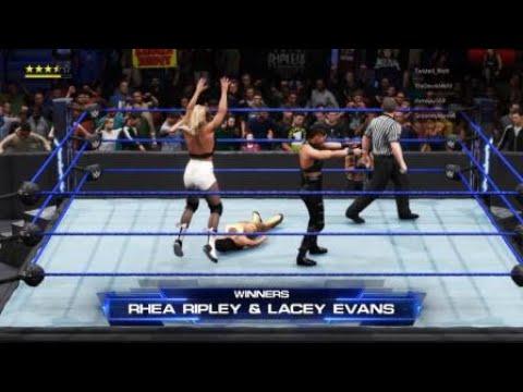 WWE 2K20 Rhea (Me) & Lacey v Mia & Zelina Tag Team Online Match