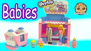 Barbie & Ken Play with Babies At Shopkins Baby Shop Kinstructions Building Set - Toy Video