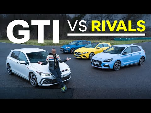 NEW VW Golf GTI vs Focus ST, AMG A35, Hyundai i30N   4K