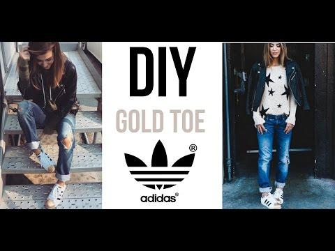 DIY: Gold Toe Adidas Sneakers