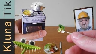 Kluna Tik top 5 MINIATURE FOOD |#05 KLUNATIK COMPILATION ASMR eating sounds no talk