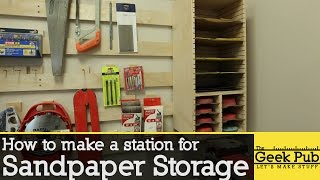 How to make a Sandpaper Storage Station