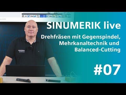 SINUMERIK live: Drehfräsen mit Gegenspindel und Mehrkanaltechnik