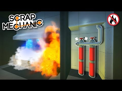 Automatic Fire Suppression System - Scrap Mechanic Creations!