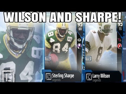 LEGENDS LARRY WILSON AND STERLING SHARPE! TOTY OFFENSE SOON!   MADDEN 18 ULTIMATE TEAM