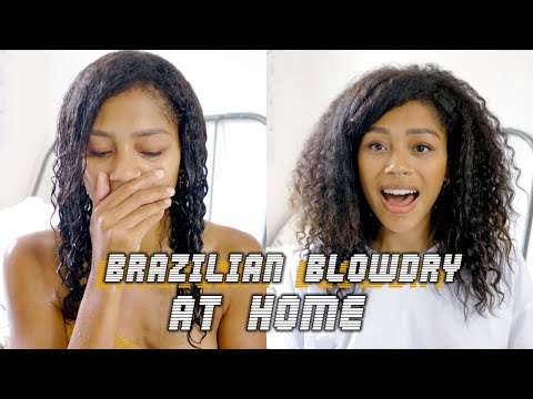THE HAIR I ALWAYS WANTED | At Home Brazilian Blowdry/Keratin Treatment On NATURAL HAIR Mp3