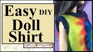 Free Doll Clothes Patterns: Easy Doll Shirt Beginners Sewing Tutorial