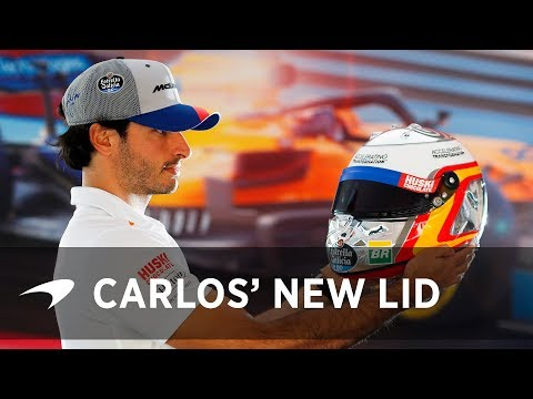 Carlos Sainz's special edition helmet | Spanish GP