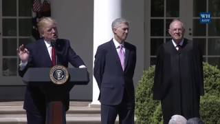 President Donald Trump Swears In Judge Gorsuch To Supreme Court 4/10/17