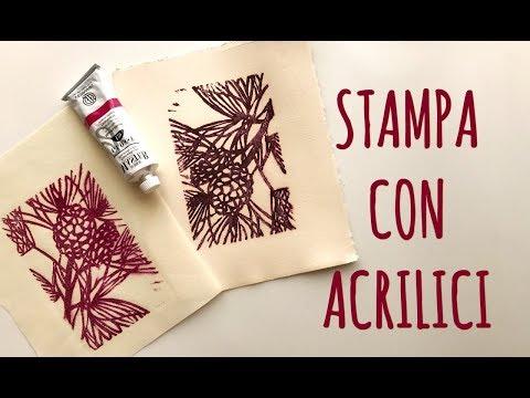 Corso di Incisione Lez. n.5: Stampare con Gli Acrilici e Carta comune  - Stampa Low Cost Arte per Te