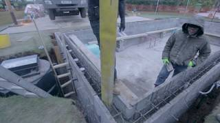 Swimming Pool Wall Construction