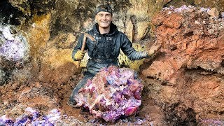 Found Rare $50,000 Amethyst Crystal While Digging at a Private Mine! (Unbelievable Find)