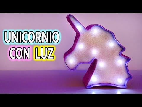 UNICORNIO CON LUZ! Ideas para decorar tu cuarto DIY