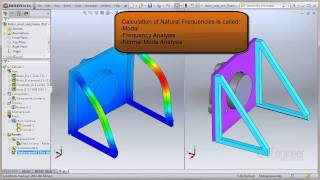 SOLIDWORKS Quick Tip - Natural Frequencies, Mode Shapes, and Vibration Tutorial