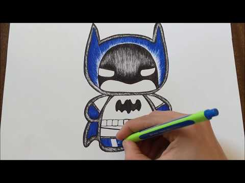How To Draw A Batman Cartoon Easy Edgarsart Video Musicpleer