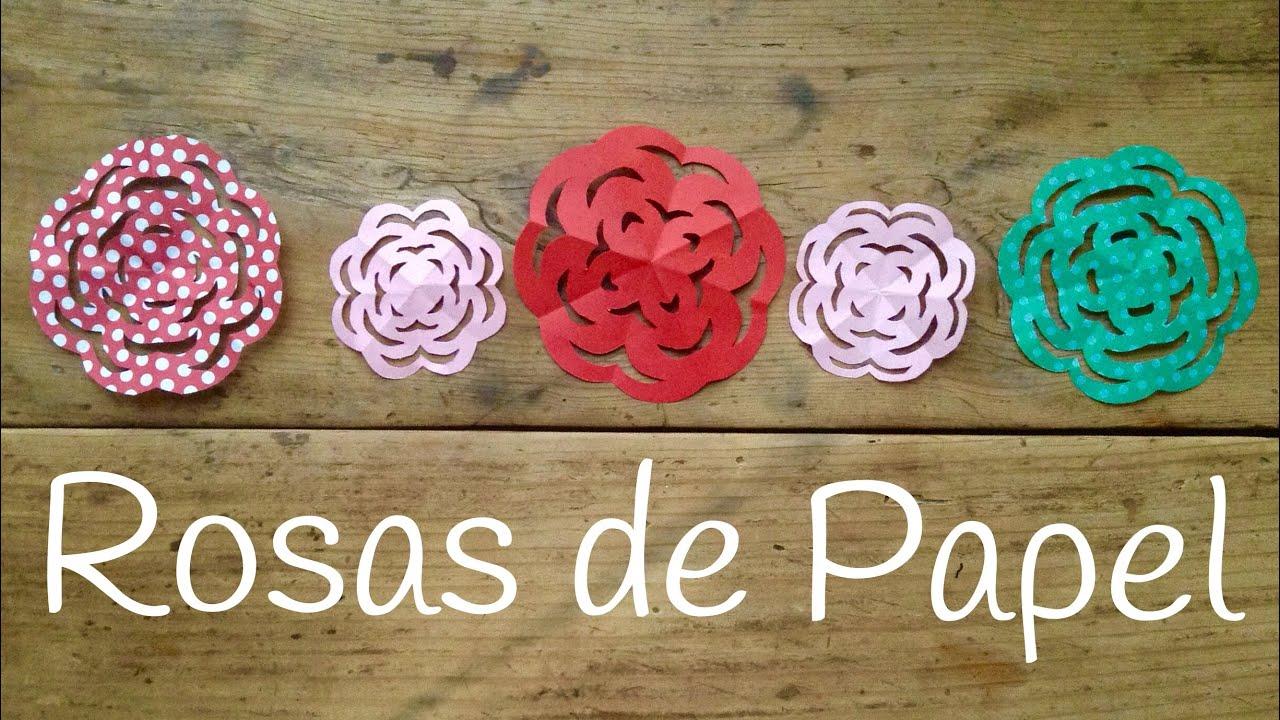 Rosa de papel facil y rapida | Kirigami para niños paso a paso