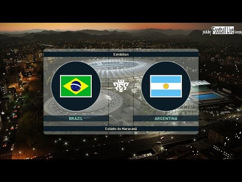 PES 2019 | Brazil vs Argentina | Neymar vs Messi & Amazing Goals | Gameplay PC