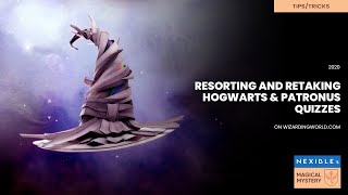 Wizarding World Account reset to to retake house and patronus quizzes