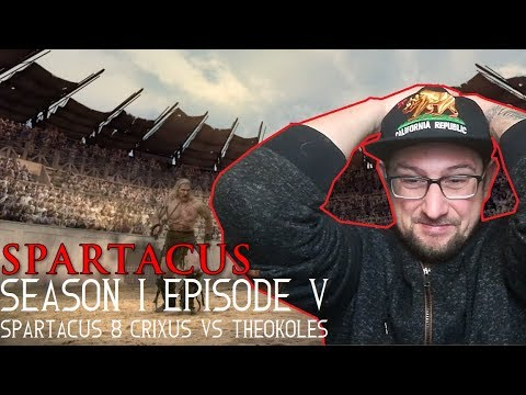 Spartacus season 1 episode 5 'Shadow Games' Spartacus & Crixus vs Theokoles REACTION