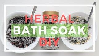 Herbal Bath Soak DIY Homemade Spa Gift For Relaxation