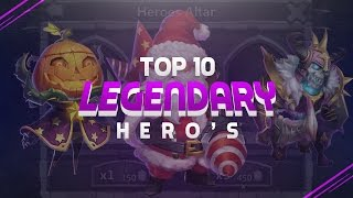 TOP 10 Heroes In Castle Clash!!!