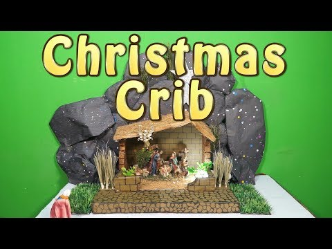 How to Make Easy Christmas Crib - DIY Nativity Scene | CHRISTMAS CRIB MAKING | Type -2