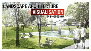 Landscape Architecture Visualization In Photoshop