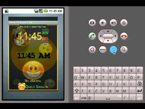 Video of Animated Alarm Clock Widget