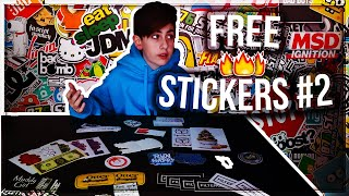 UNBOXING FREE STICKERS #2!!!! 𝘄/ 𝗟𝗶𝗻𝗸𝘀 (Stickerbombed Guitar Case Review)