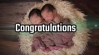 Twin Baby Congratulation Messages, Quotes, Wishes, Greetings, Sms, Saying & Video - Wishes for Twins