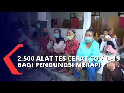 bnpb salurkan dana bantuan dan alat rapid test untuk pengungsi merapi