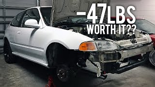 AC REMOVAL | WEIGHT REDUCTION | PROJECT CIVIC EG