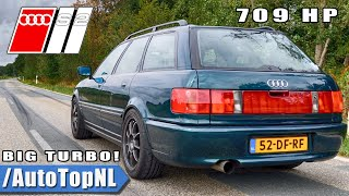 709HP AUDI S2 2.2 20V Turbo - INSANE! Loud Exhaust SOUND by AutoTopNL