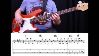 Felix Jaehn - Hot 2 Touch (Bass Cover with Tabs)