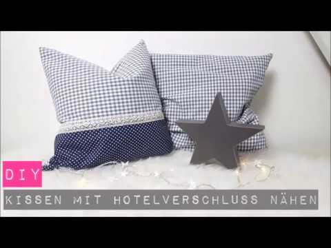 DIY Kissen mit Hotelverschluss nähen/ Nähen für Anfänger|DIY Kajuete