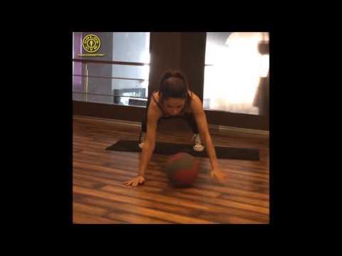 Medicine Ball Shuffle Push ups