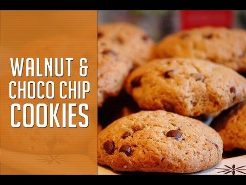 Walnut and choco chip cookies By Sharmilazkitchen