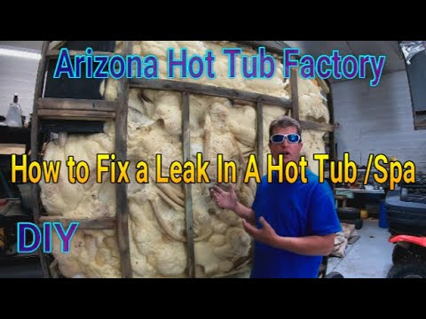 How To Fix A Leak In A Hot Tub / Spa. Do It Yourself Spa / Hot Tub Repair Its Easy (DIY Spa Repair)