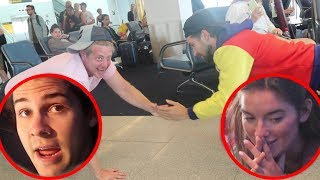 OUR EMBARRASSING AIRPORT WORKOUT!!
