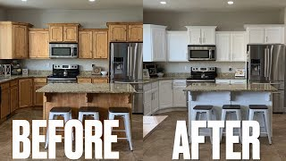 STUNNING KITCHEN MAKEOVER BEFORE & AFTER | NEW LOOK KITCHEN CABINETS | UPDATING KITCHEN ON A BUDGET